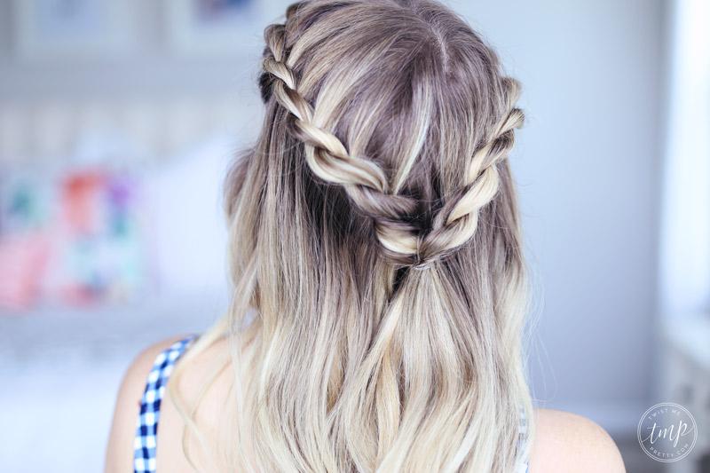 Cute Summer Twists Beach Hairstyle Twist Me Pretty