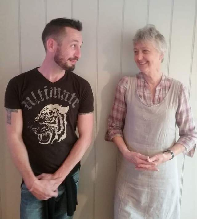 David (the songwriter) with Rosemary (Founding member of AVIS).