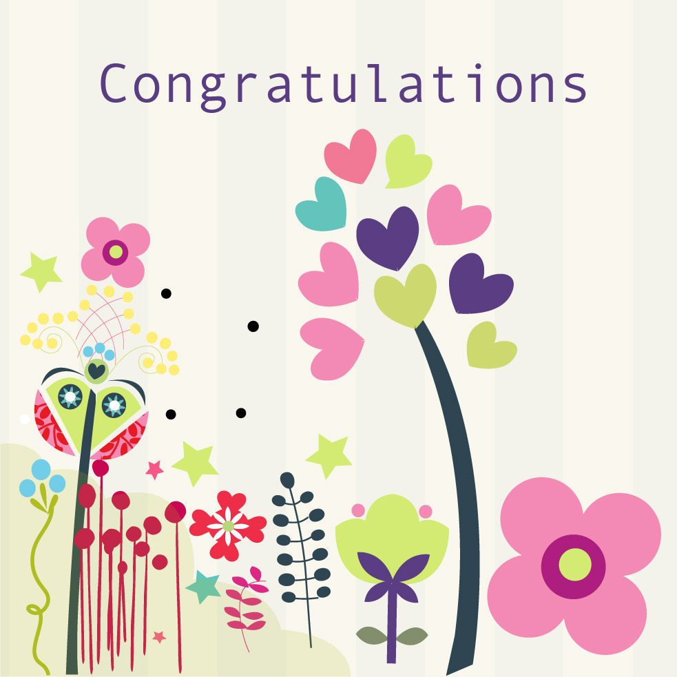 Congratulations Card White