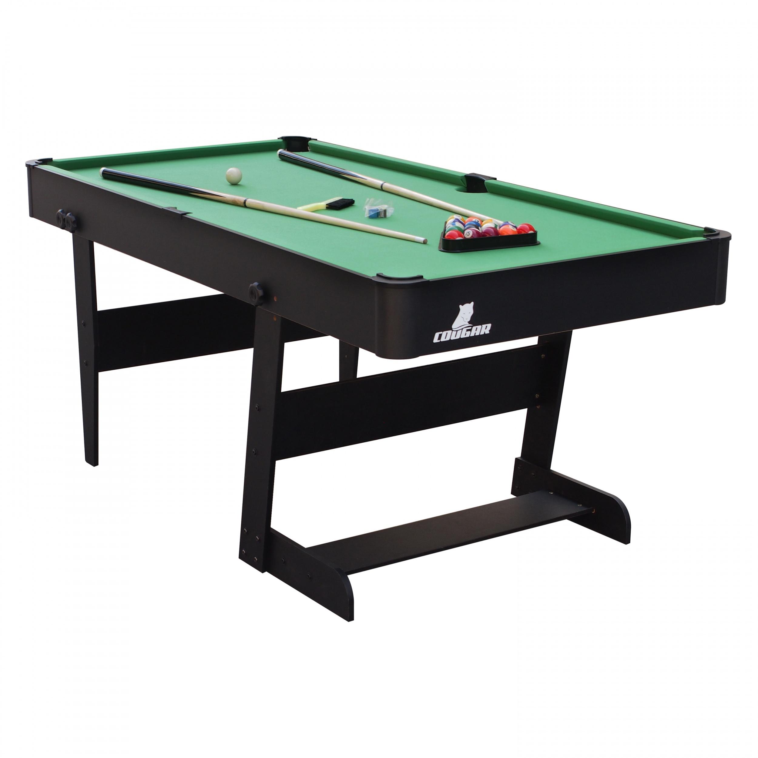 cougar hustle xl pool table foldable