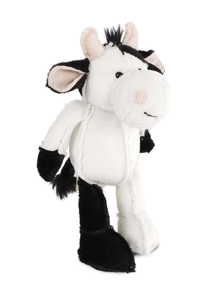 cuddly toy cow plush 17 26 cm black