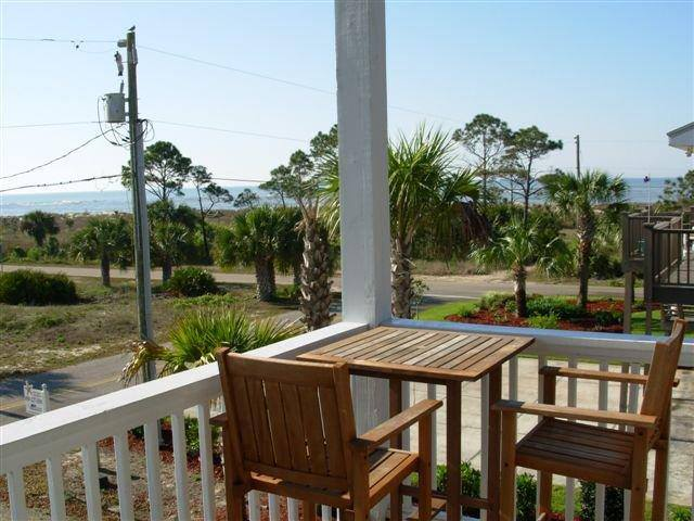 Coffee Table Overlooking Start of Beach Path and Gulf of Mexico