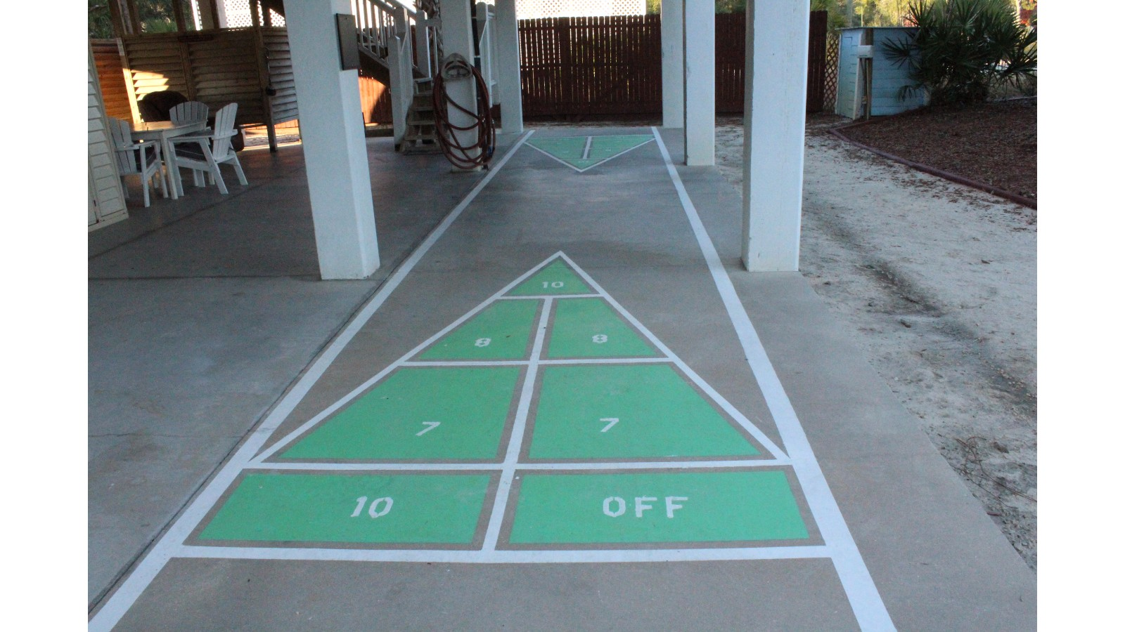 Cool Protected Shuffle Board Court