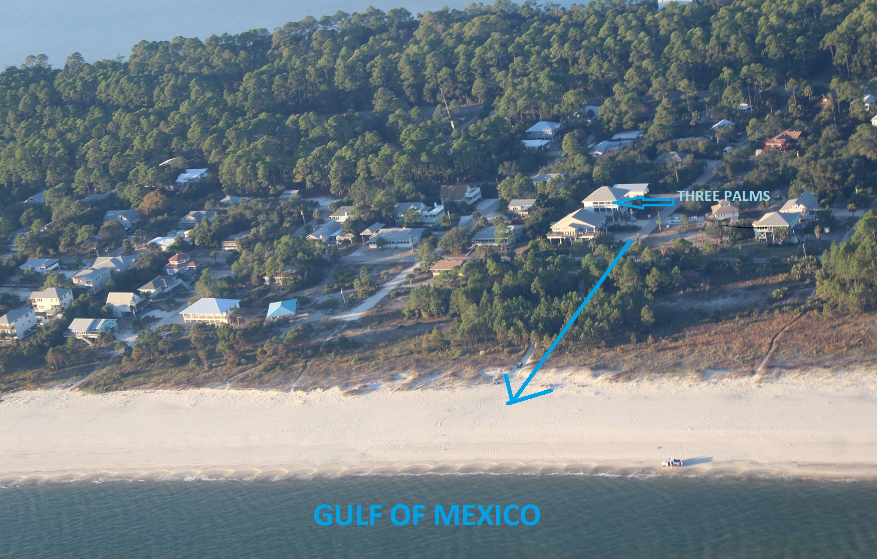 Photo from Plane of House and Short Walk to Beach