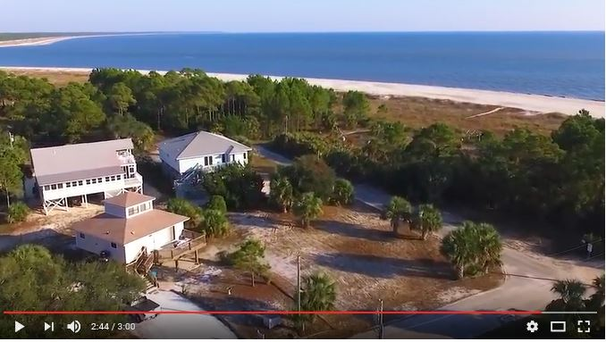 View From Three Palms with Drone of Beautiful Beach