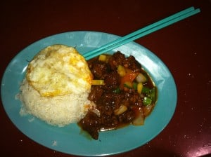 Sweet and sour pork with rice!