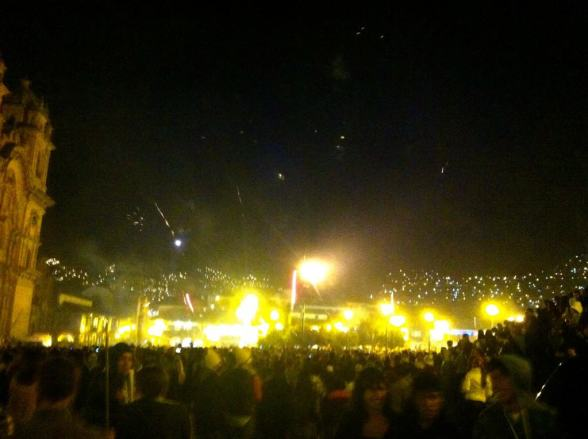 NYE at Plaza de Armas in Cusco