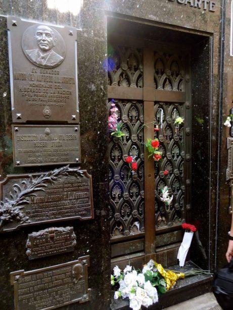 Eva Perón's grave