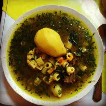 Cazuela - a typical Chilean soup