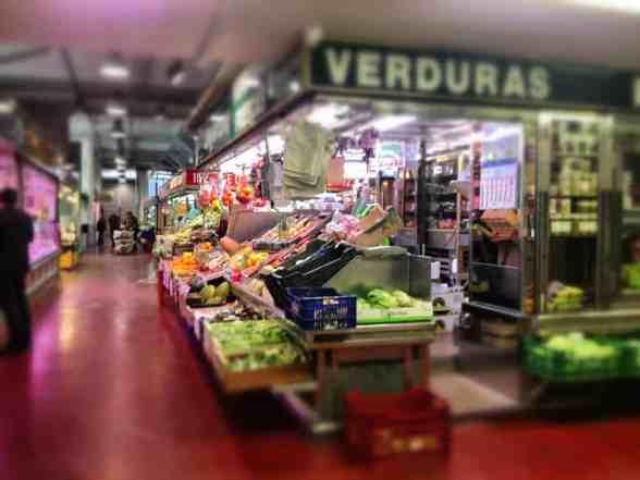 A mercado in Madrid