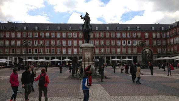Plaza Mayor in Old Madrid