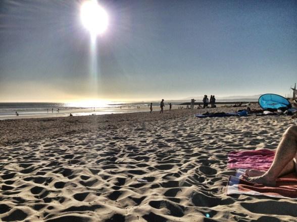 Beach along Costa da Caparica
