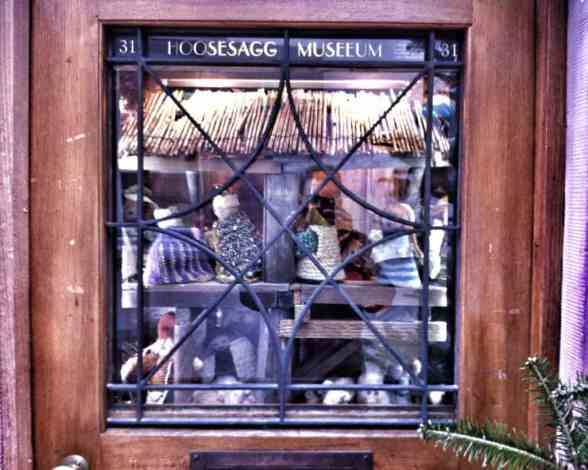 Hoosesagg Museum: the world's smallest museum! (it's just a glass display case)