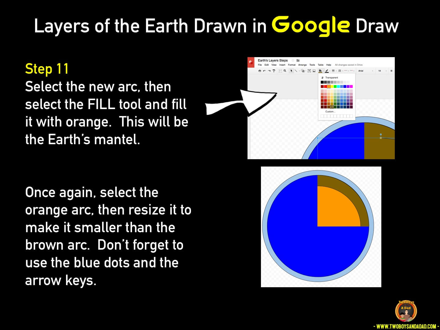 Use Google Draw in the classroom Step 11