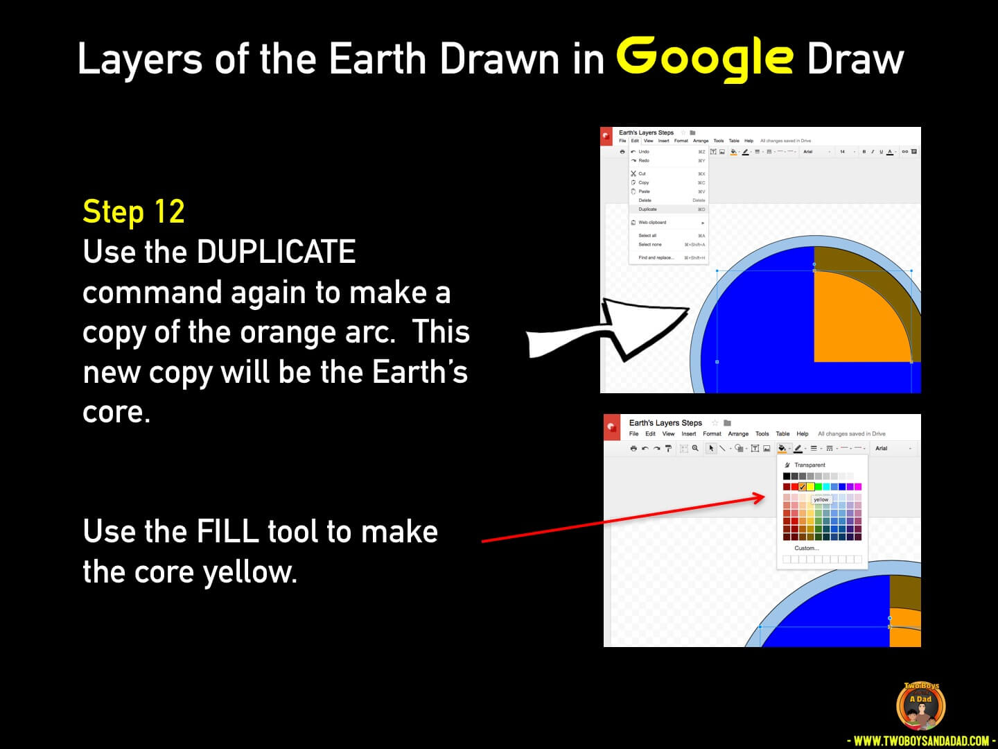 Use Google Draw in the classroom Step 12