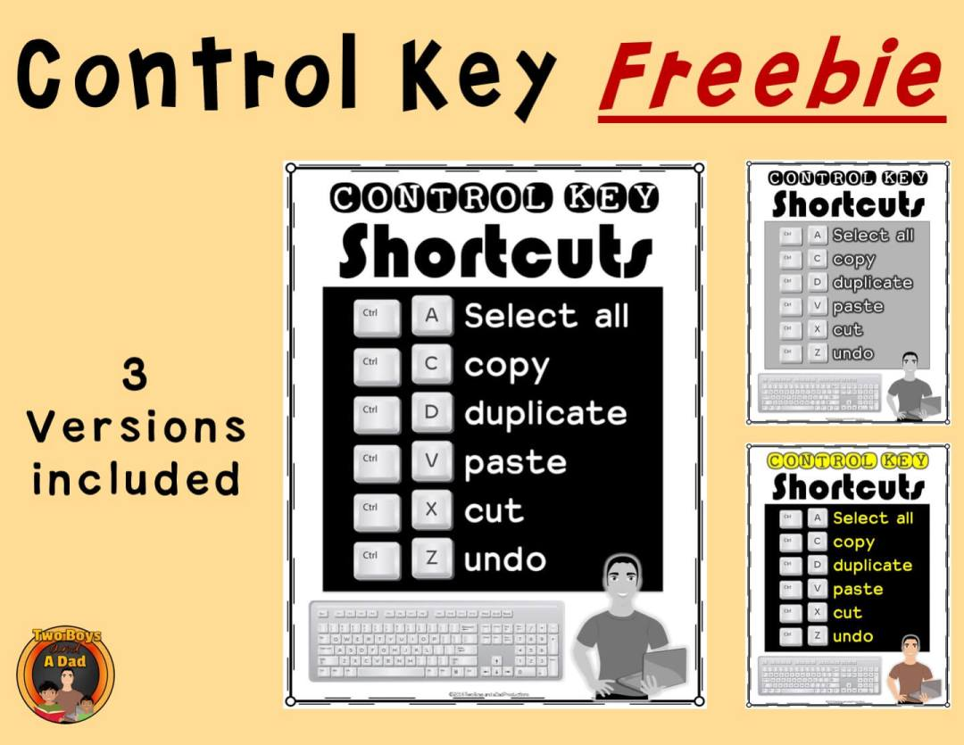 1:1 Classroom Tips Control Key Freebie