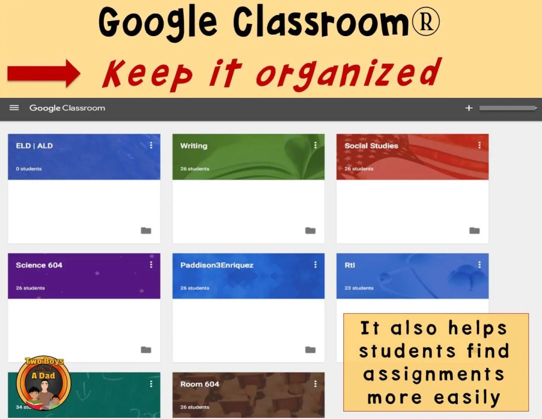 1:1 Classroom Tips Keep Google Organized