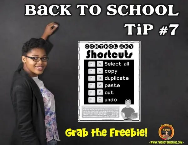Back to School Tip Tech Tip Freebie