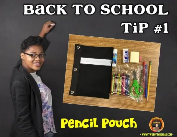 Back to School Tip Pencil Pouches