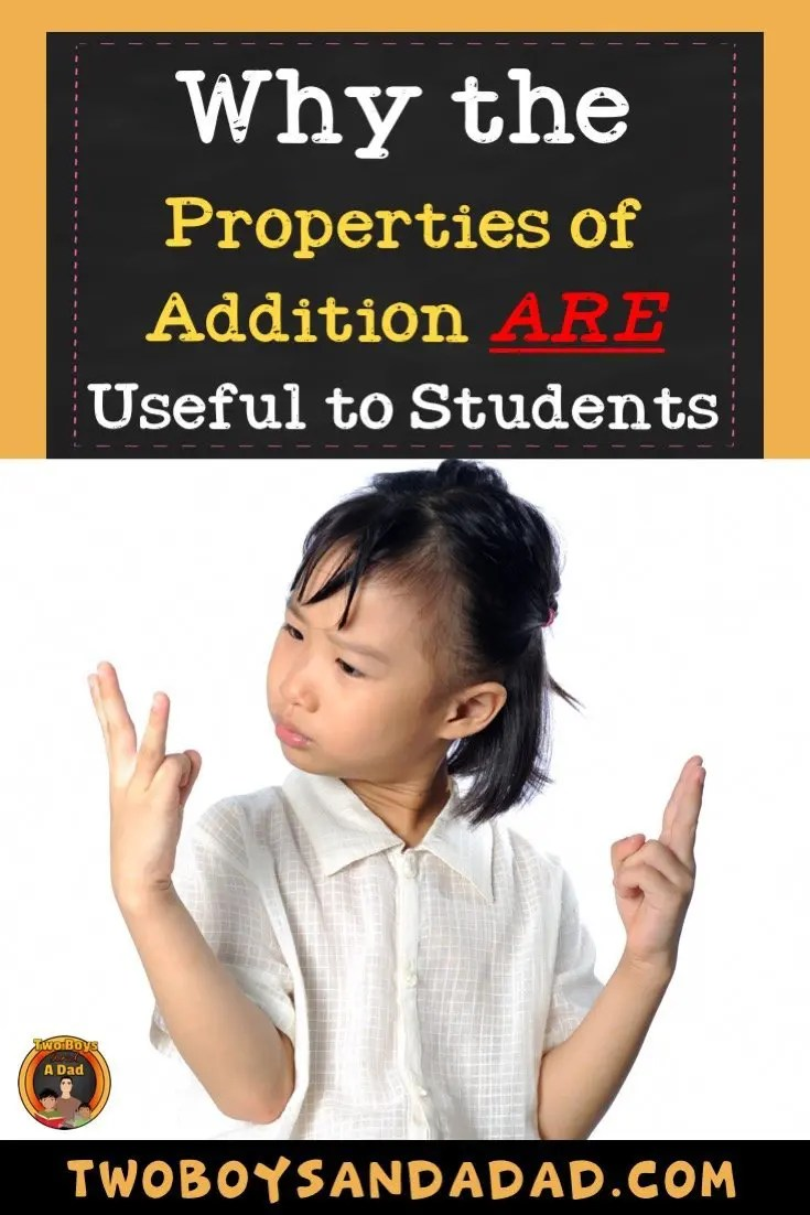 Teach the Properties of Addition to students because they are extremely useful as a strategy for efficient computation. Read how I use a PowerPoint, activities, center, foldable and more to teach these properties.  #twoboysandadad #math #3rd grade #2ndgrade #commomcoremath #teaching #mathactivities