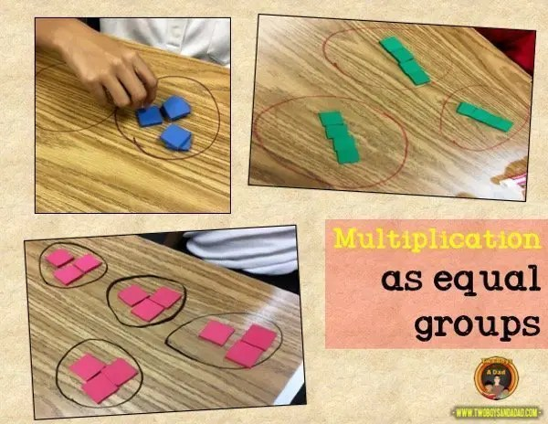 learning multiplication as equal groups
