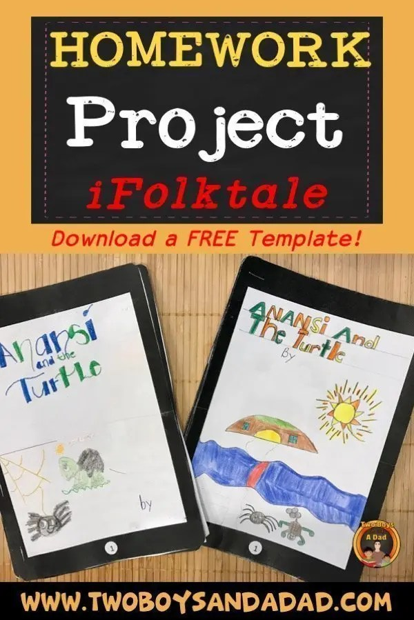 Do you need an idea for a culminating homework project based on the Common Core literature standards? Then download this FREE template so your students can create their iFolktale! #commoncore #homework #thirdgrade #literature #elementary