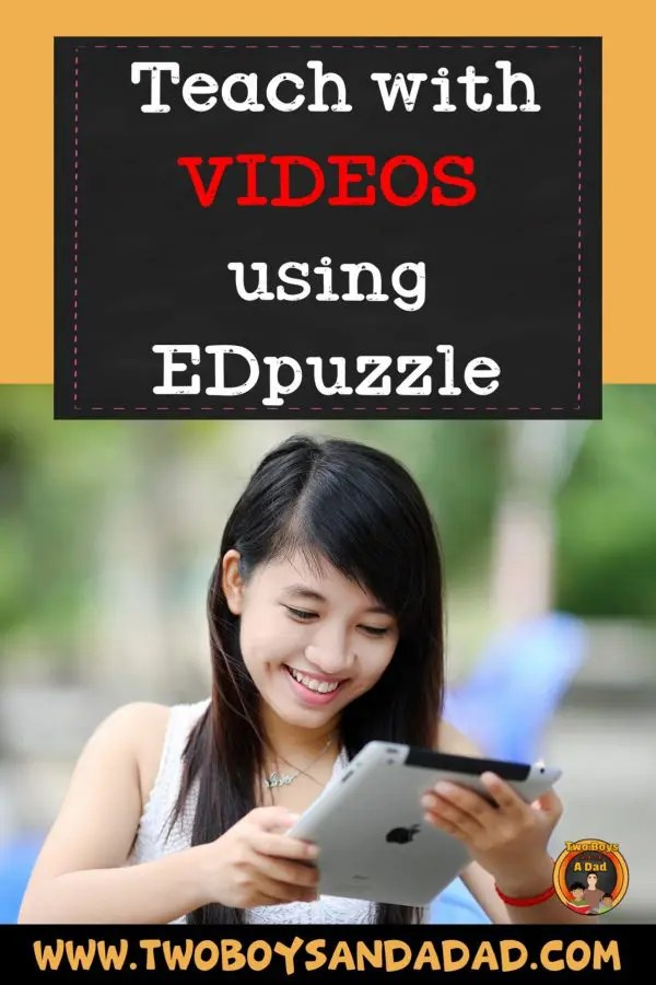If you're wanting to use videos in the classroom to teach students, then you'll want to use edpuzzle.com. Choose videos from YouTube or other channels, add questions directly to the video. The see the results all in one place. #video #videointheclassroom #teaching #technology #classroom