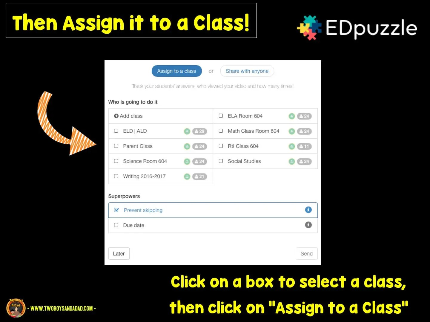 assign the video to your class in Google Classroom