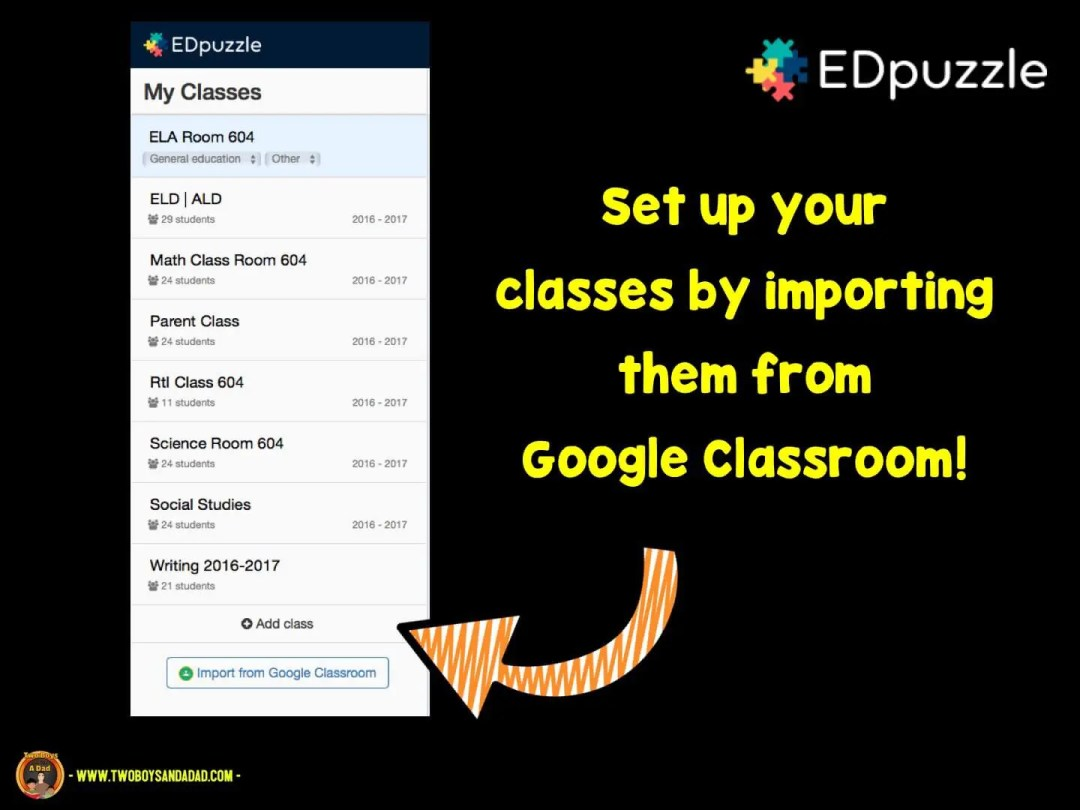 Import your students from Google Classroom