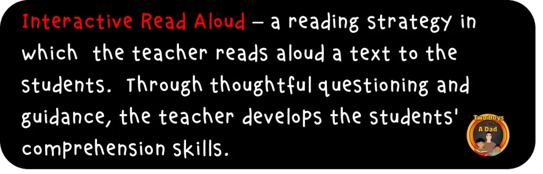 Interactive Read Aloud Definition