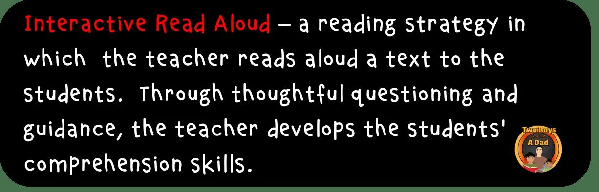 Interactive Read Aloud Definition