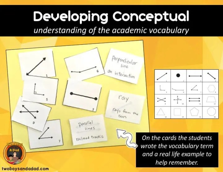 Develop Conceptual Understanding of Geometry Vocabulary