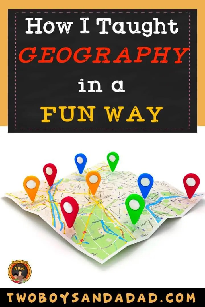 Teaching geography to elementary students should include learning about landforms, bodies of water and finding your location (continent, country, state and city) on a map. Read how I made learning about geography fun with salt and flour maps, a project and QR codes. Then download a FREE QR code handout for students. #twoboysandadad #socialstudies #geography #qrcodes
