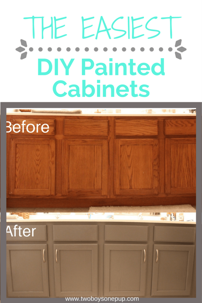 diy paint bathroom cabinets easy diy painted bathroom cabinets two boys one pup 14947