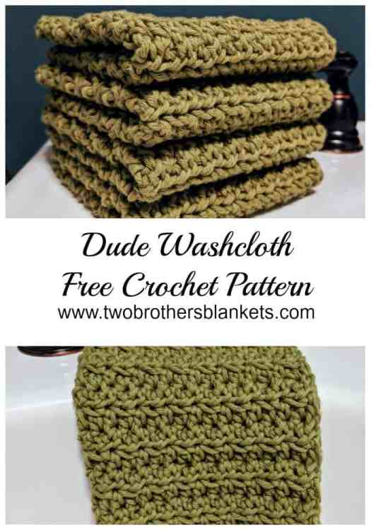 Crochet Dude Washcloth Free Pattern Two Brothers Blankets