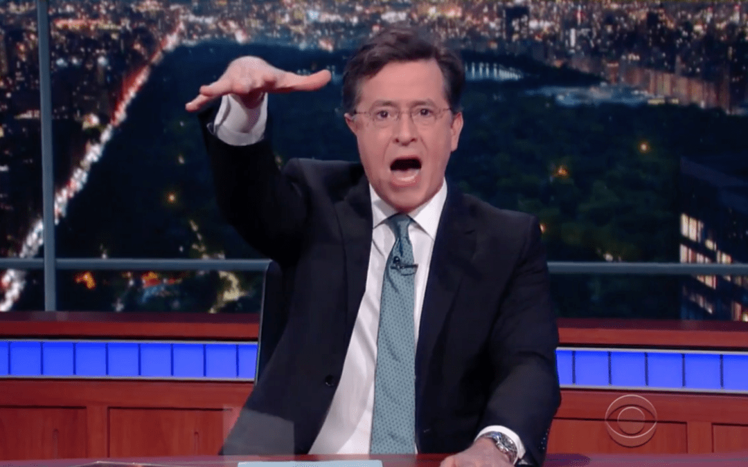 Stephen Colbert goes on his own Kanye-esque rant about nothing