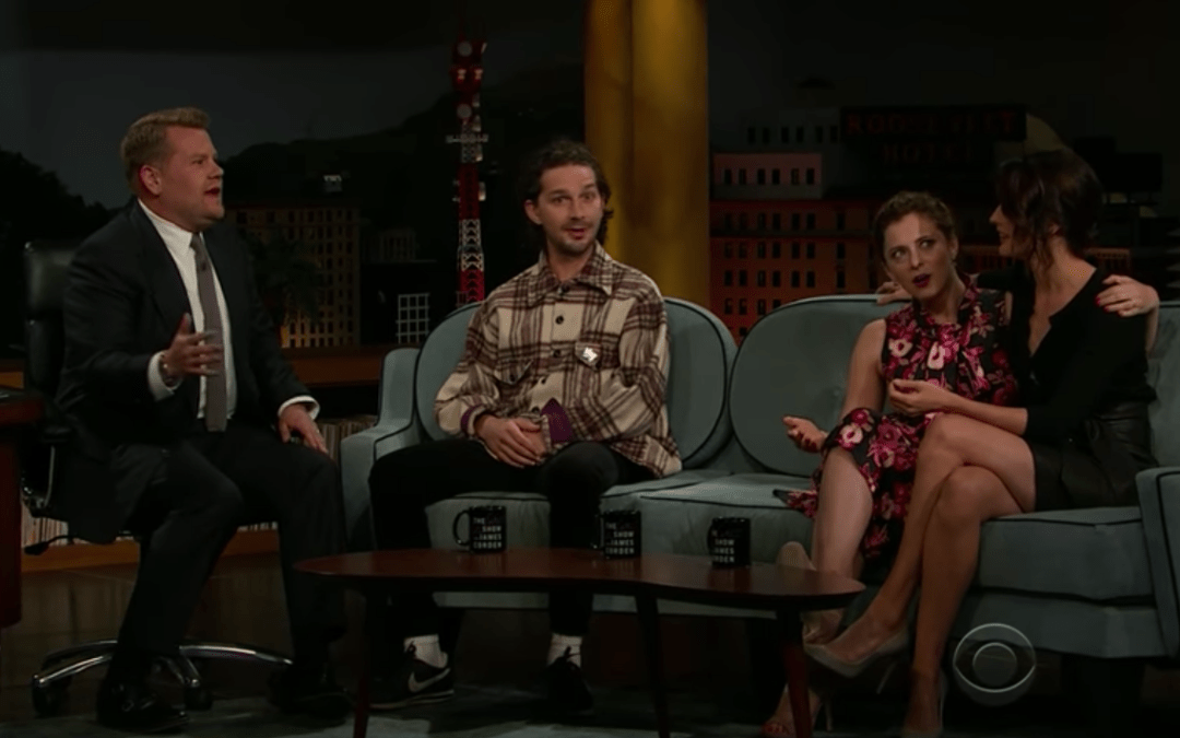 Late Night In The Morning – The Studio Lights Crash During Shia Labeouf's Interview On The Late Late Show