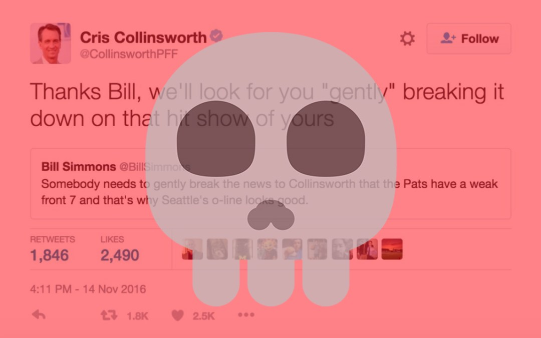 Cris Collinsworth Is Not To Be Trifled With