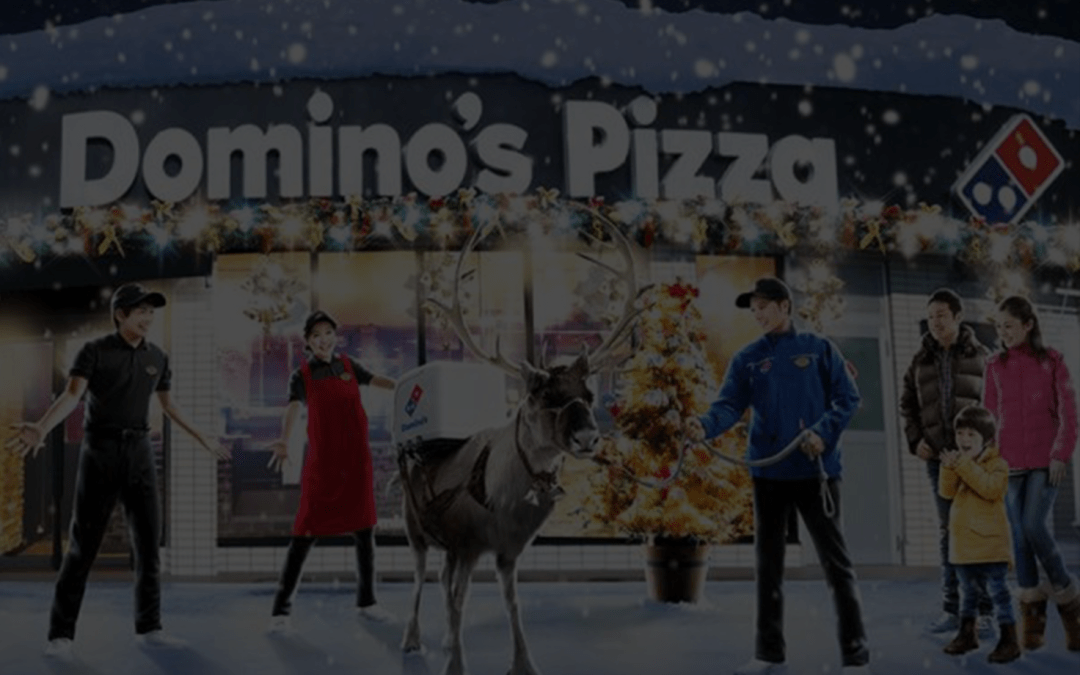 Domino's New Delivery Guy – A Reindeer