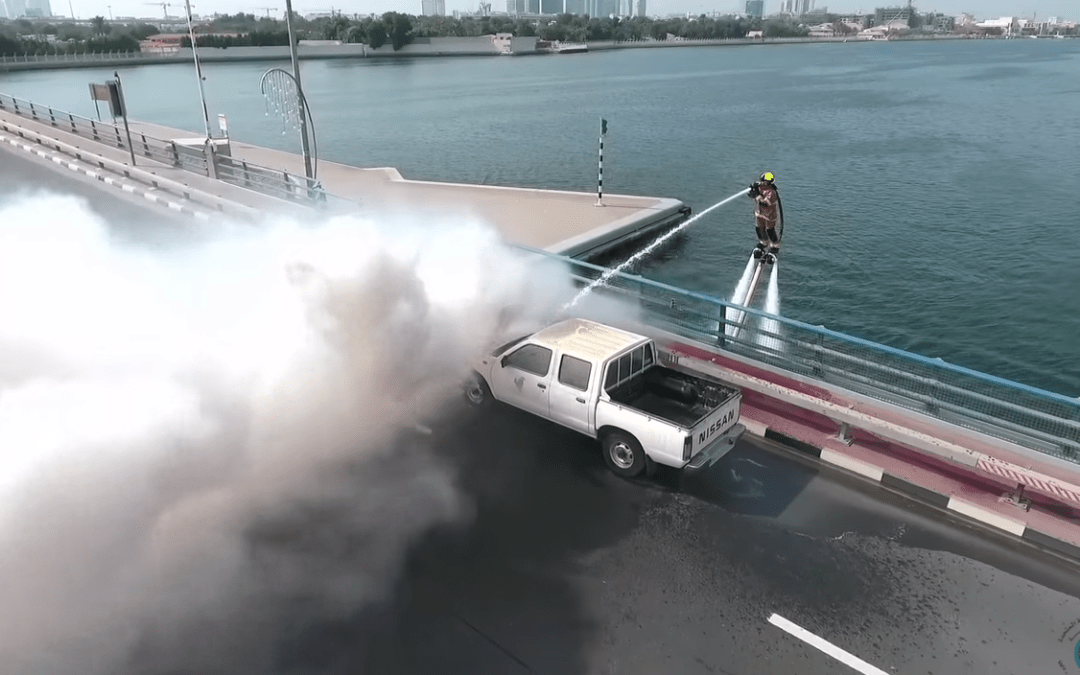Dubai Firefighters Get The Upgrade Of The Century With New Water Jetpacks