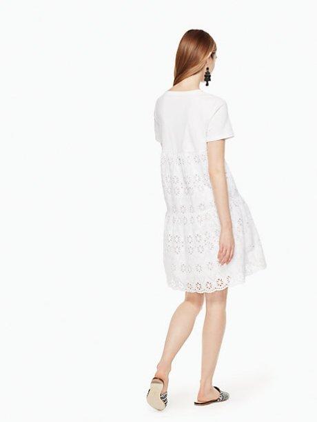 Eyelet Flounce Knit Dress, $248   Kate Spade