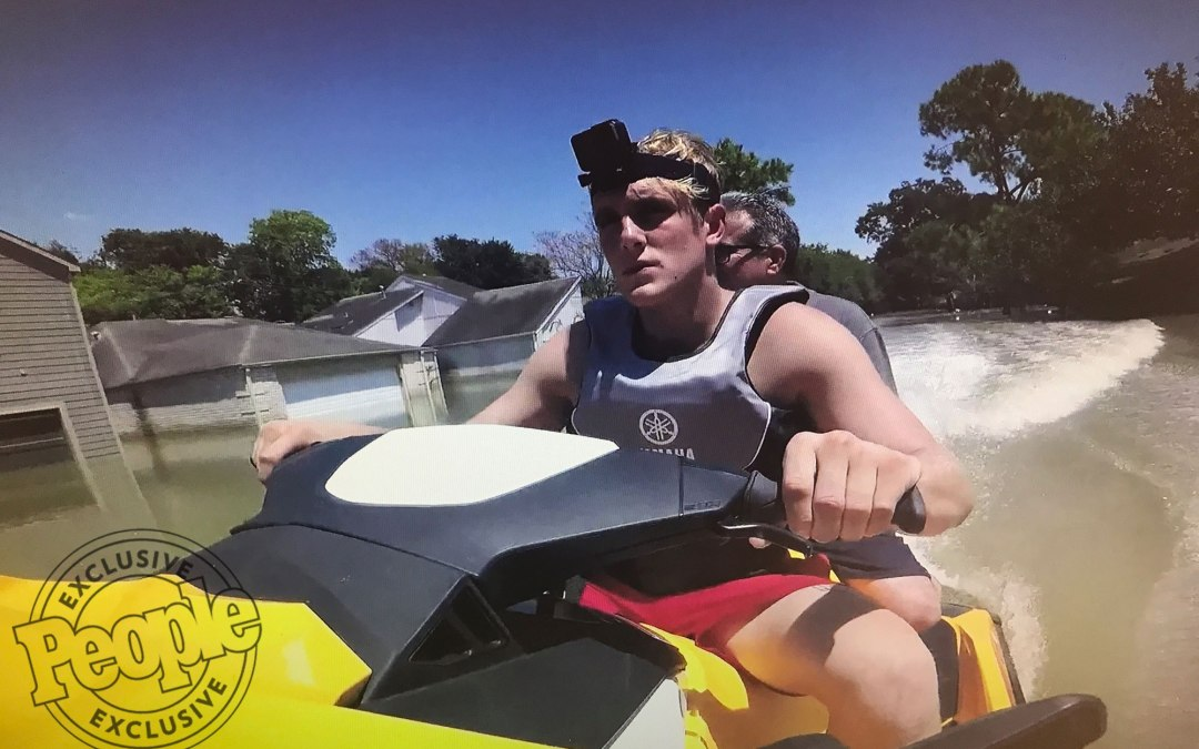 Jake Paul Rescuing Houston Flood Victims On A Jetski – Is It Enough For The Internet To Forgive Him?