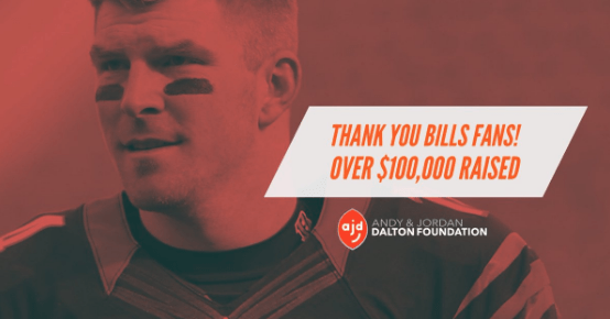 Buffalo Bills Fans Donated Over $100k to Andy Dalton's Charity To Thank Him For His Part in Their Playoff-bound Win
