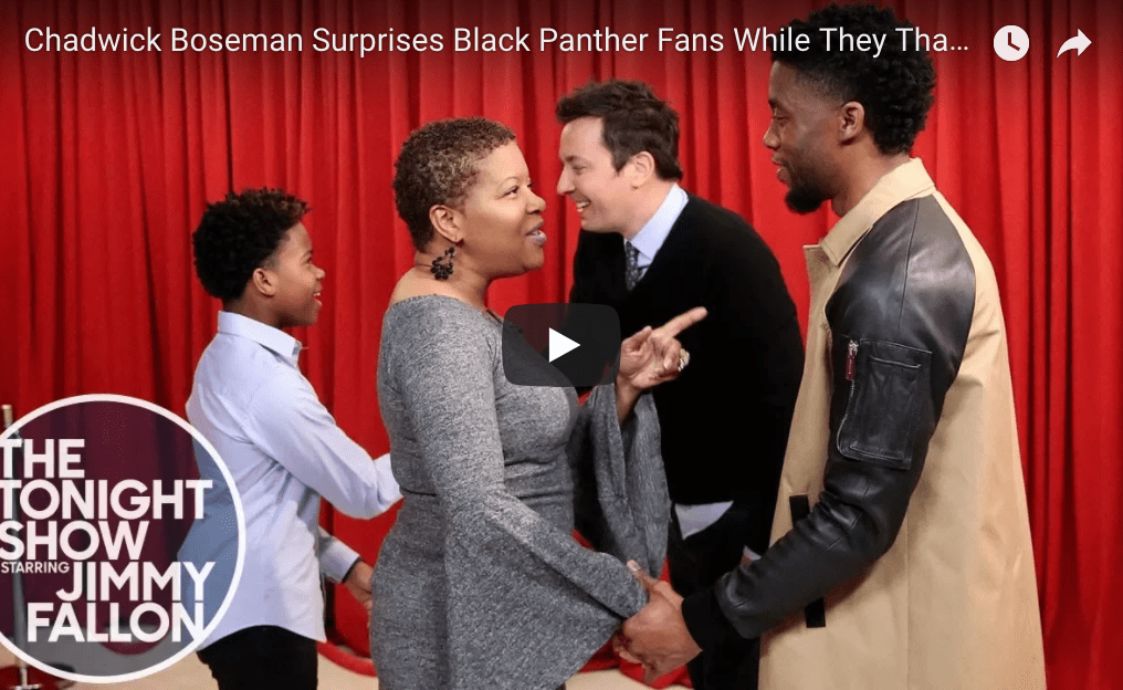 Late Night in the Morning – Chadwick Boseman Surprises Black Panther Fans