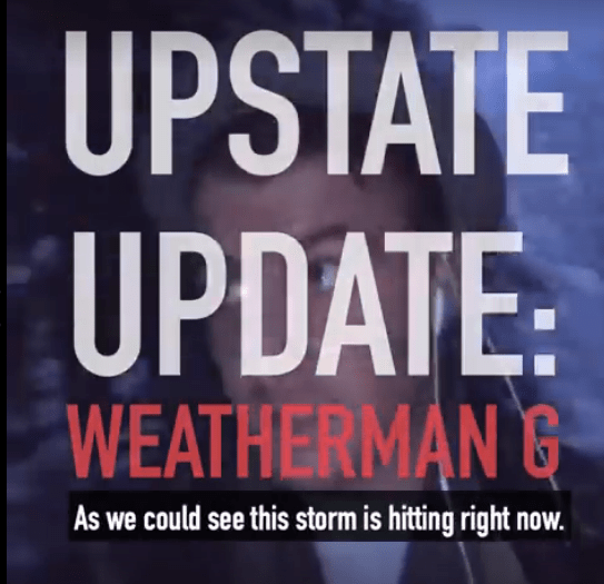 Upstate Update: Weatherman G is a Weather Pyschic
