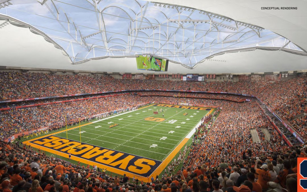 Syracuse's Carrier Dome is Getting Renovated and it Looks…Interesting