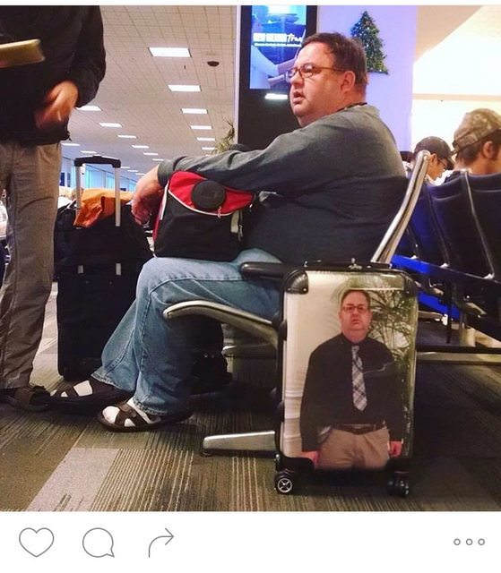 I am HOWLING at These People Who Customized Their Luggage With a Photo of Their Face