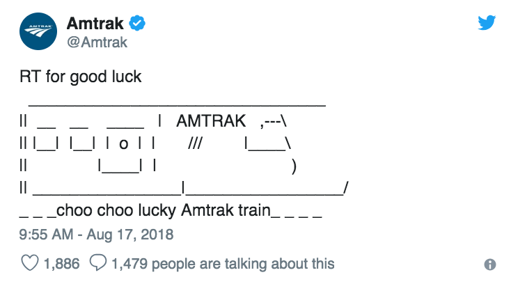 I Am Very Concerned About Amtrak's Latest Tweet