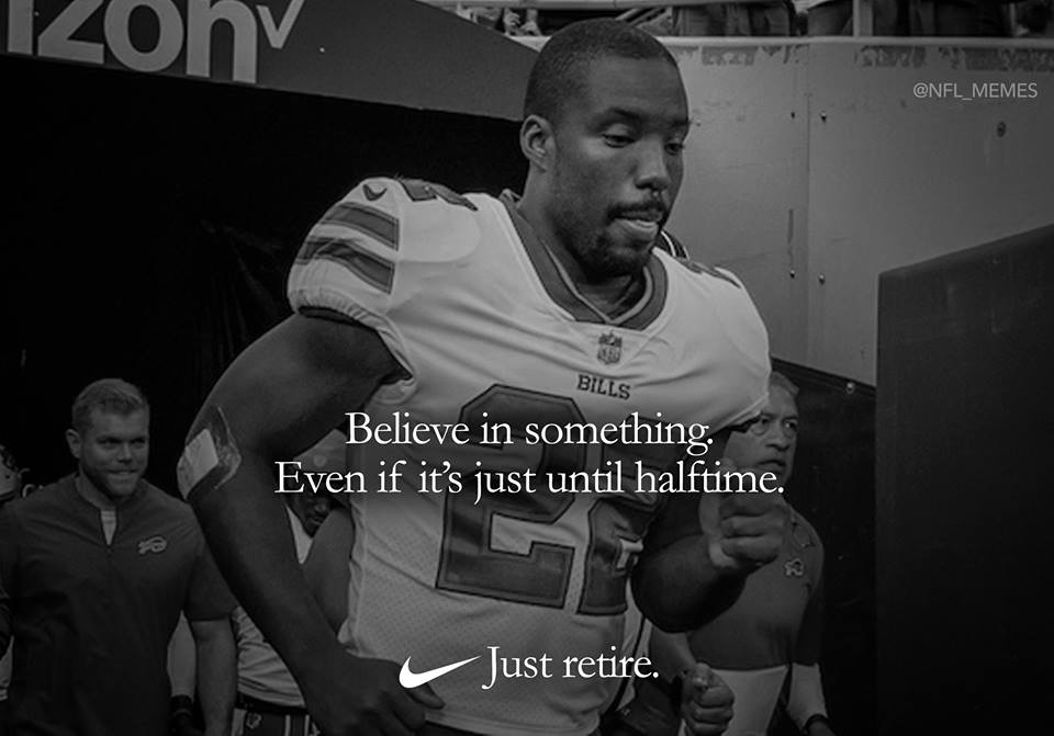 Bills Player Quits at Halftime and That Inspires the Shit Out of Me
