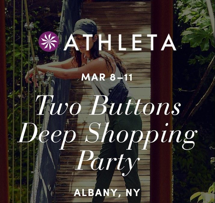Get 20% Your In-Store Purchase at Athleta This Weekend Thanks to Two Buttons Deep